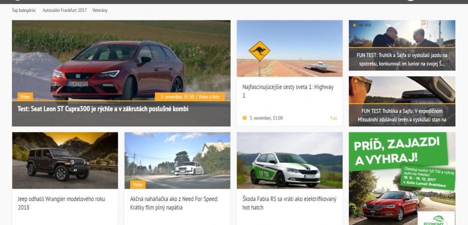 Auto.sk oslavuje polroka od spustenia webu