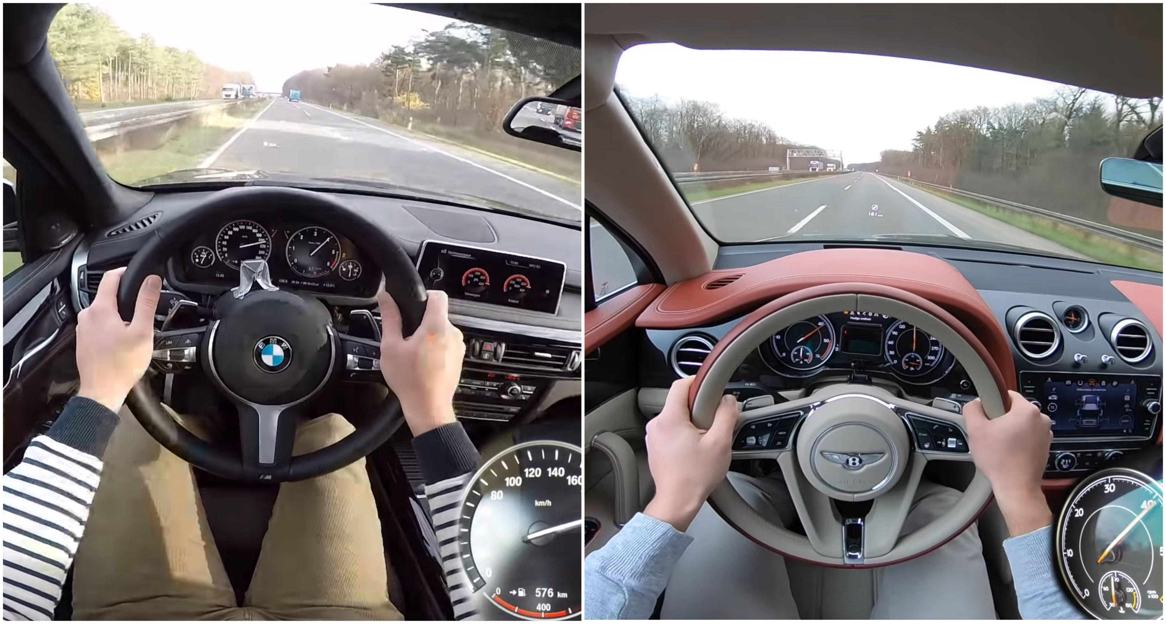 Bentayga vs. X5 M50d: Pozrite si, ako sa správajú na diaľnici
