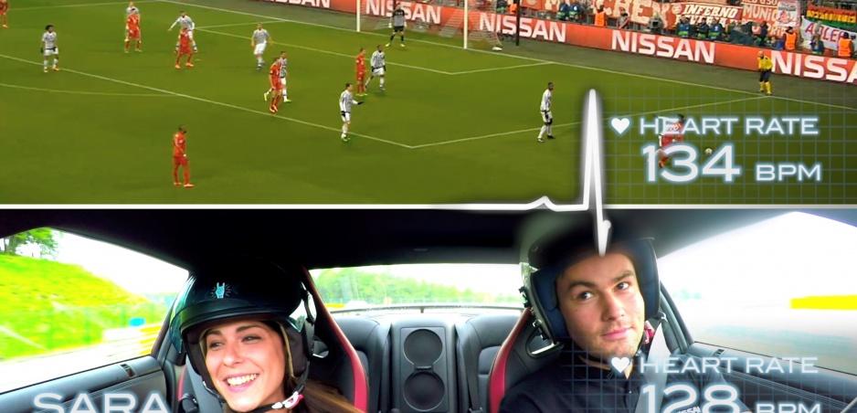 Čo viac zvýši tep Liga majstrov alebo rýchlosť 250 km/h v Nissane GTR?