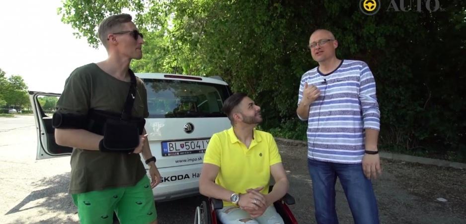 FUN TEST: Sajfa s Truhlíkom vyskúšali auto pre hendikepovaných