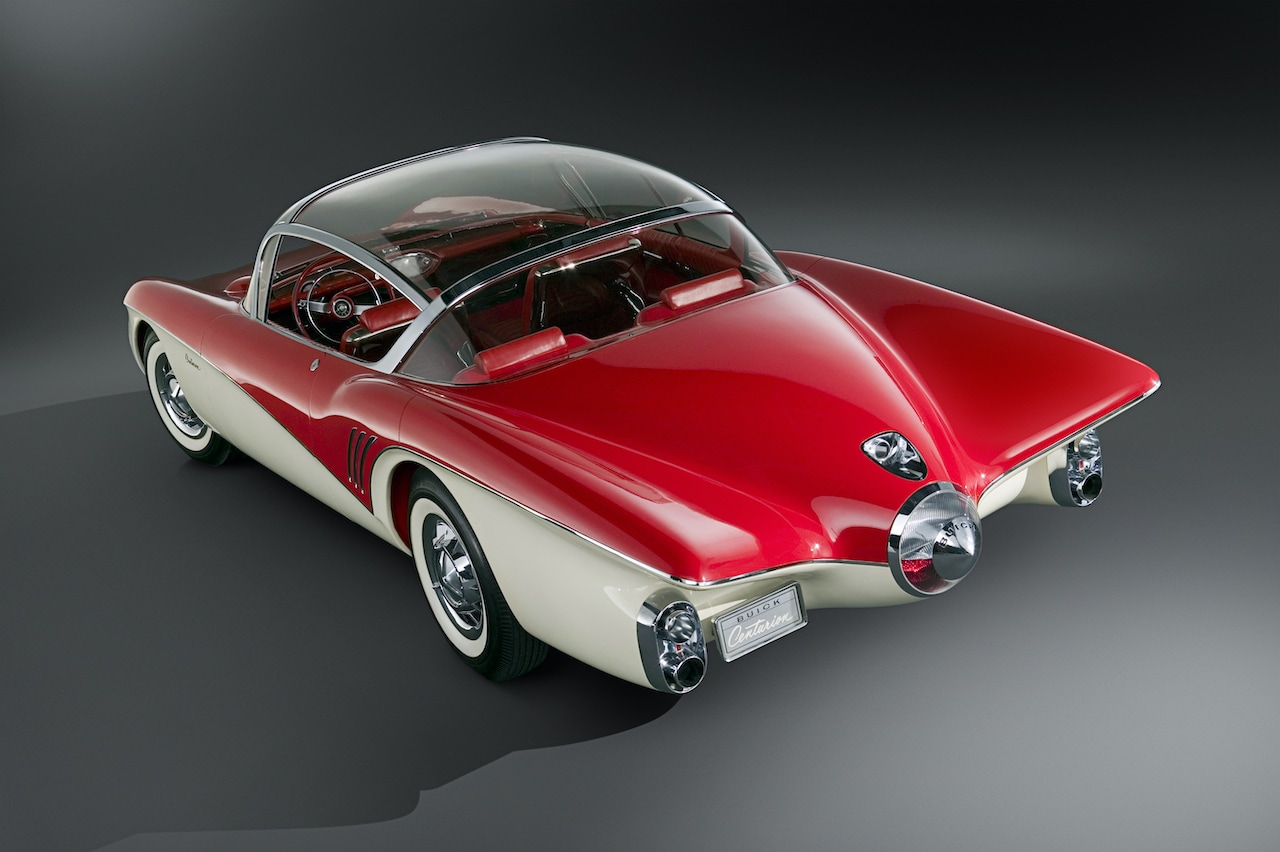 História kamier v autách siaha do roku 1956 k modelu Buick Centurion