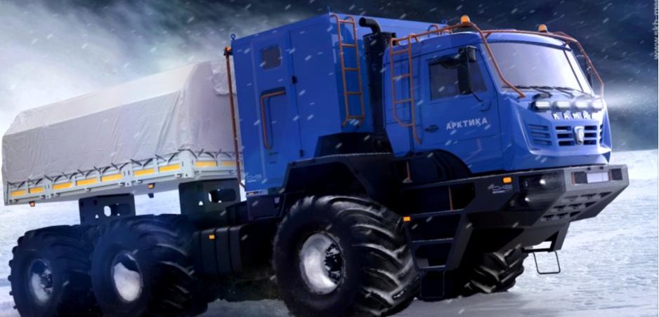 Kamaz Arktika je nový ruský stroj pre arktické oblasti