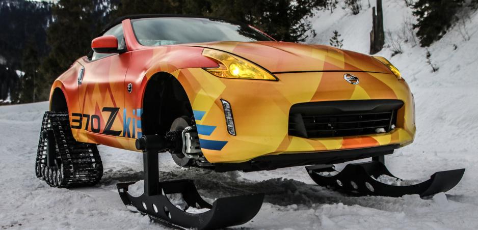 Nissan premenil športový model 370Z na snežné vozidlo