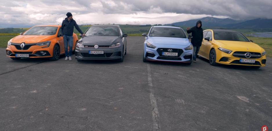 Porovnávací test: Mercedes AMG A35 vs VW GTI TCR vs Hyundai i30 Fastback N vs Renault Megane R.S. Trophy