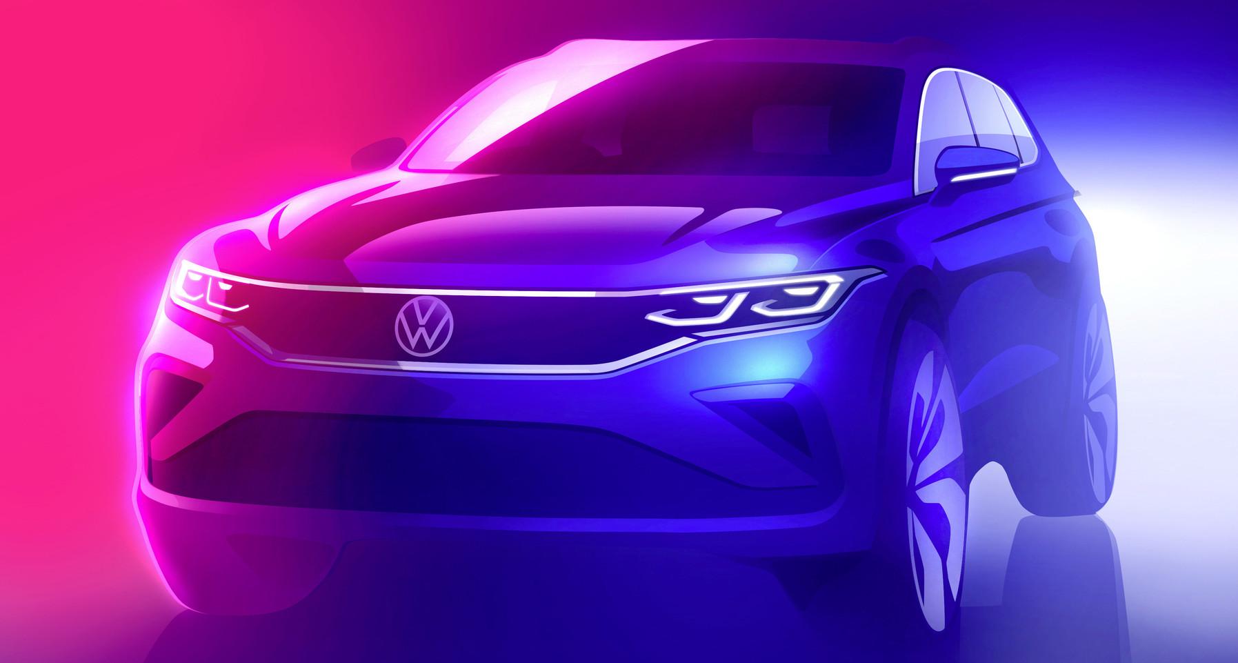 Pozrite si prvú skicu modernizovaného Volkswagenu Tiguan