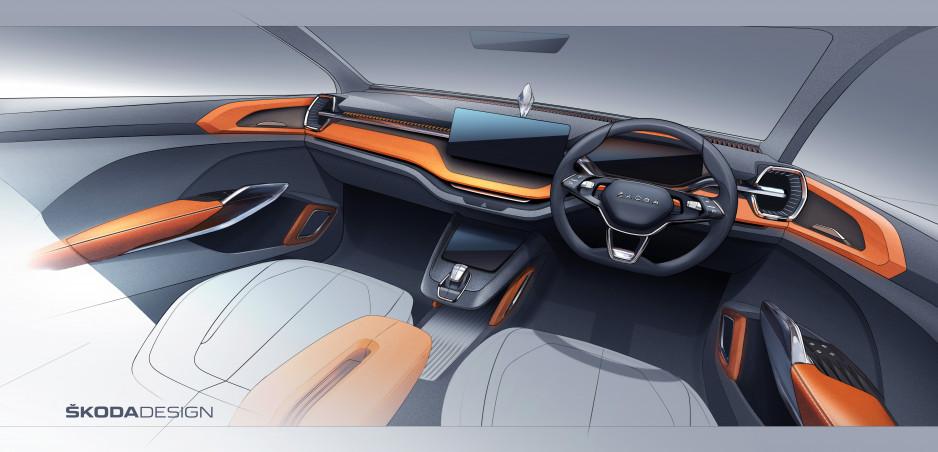 Škoda ukázala interiér konceptu Vision IN. Predznamenáva nové SUV pre Indiu