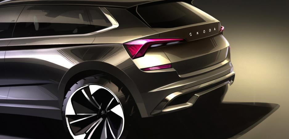 Škoda ukazuje crossover Kamiq na prvých skiciach