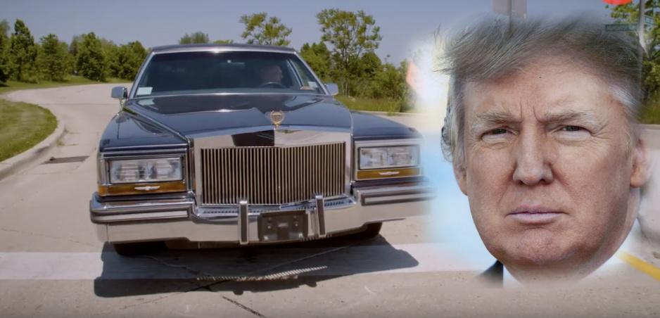 Takto vyzerala Trumpova stará limuzína. Je to vrchol gýča