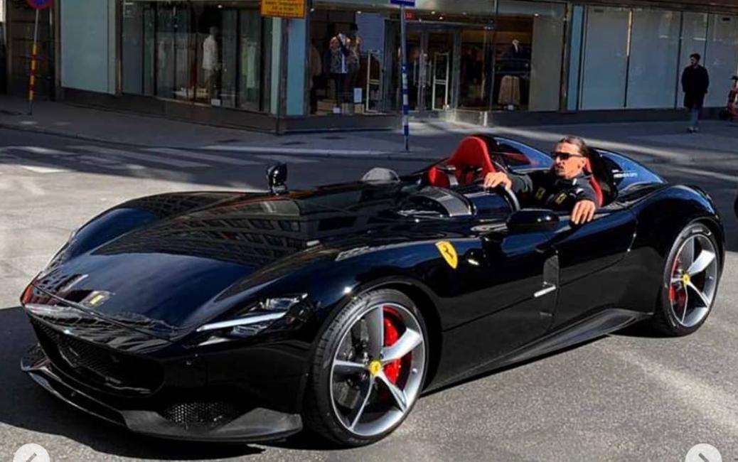 Zlatan Ibrahimovic púta pozornosť svojím Ferrari Monza SP2