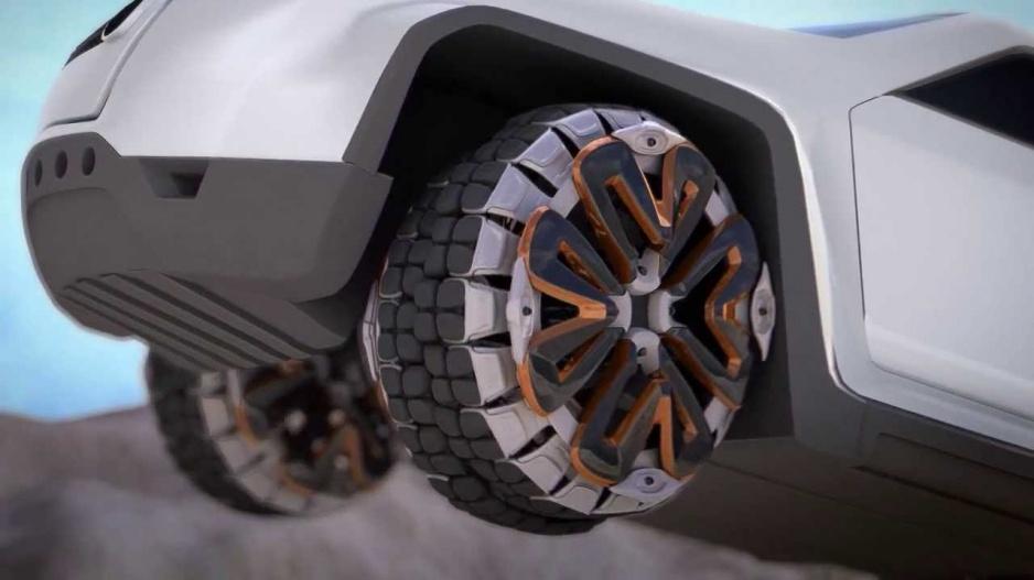 Offroadová pneumatika budúcnosti Motiv