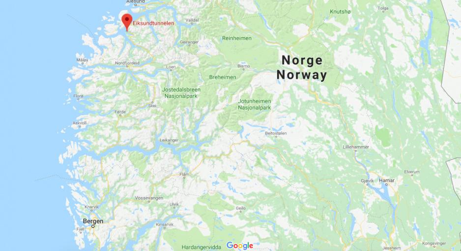 Tunel Eiksund mapa