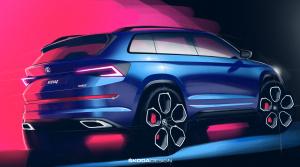 Škoda zverejnila dve skice Kodiaqu RS