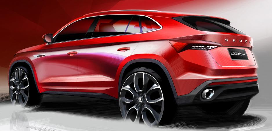 Škoda Kodiaq prichádza aj ako kupé. Pozrite si prvé skice verzie GT