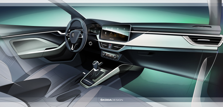 Škoda Scala odhaľuje nový interiér značky s veľkými displejmi