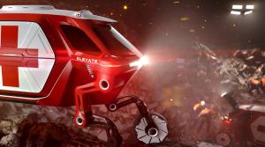 Hyundai Cradle je záchranné elektrické kráčajúce vozidlo