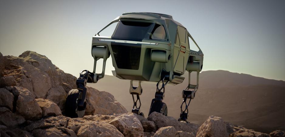 Kráčajúce vozidlo Hyundaiu je určené pre záchranné zložky