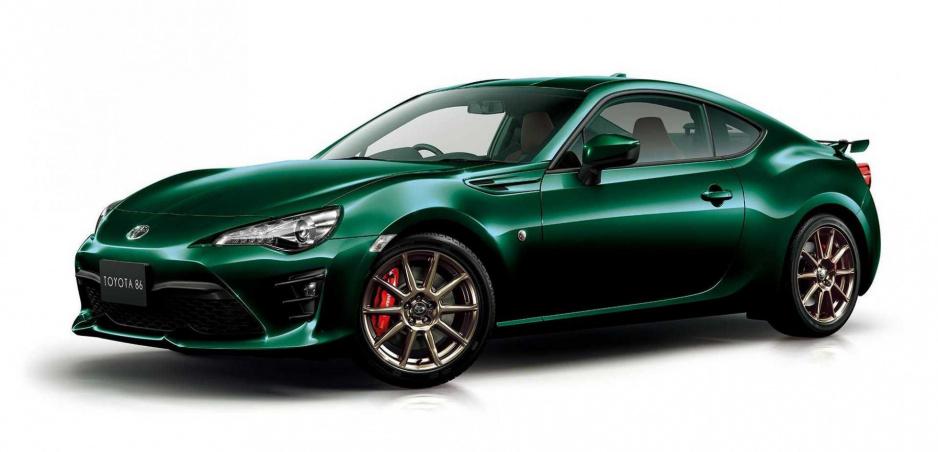 Limitovaná Toyota GT86 je odetá do farby British Racing Green a sekne jej to