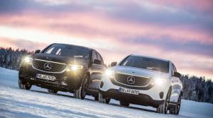Elektrický Mercedes EQC absolvoval posledné testy v zimných podmienkach