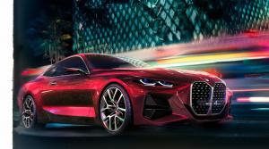 BMW Concept 4 cerí zuby vo Frankfurte