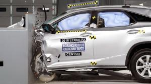 Lexus RX dosiahol najvyššie hodnotenie v nárazových testoch