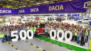 Z výrobnej linky zišla polmiliónta Dacia Duster